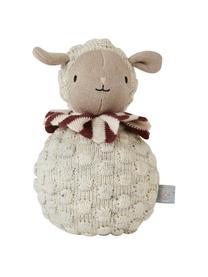 Stehaufmännchen Poly aus Baumwolle, Baumwolle, Creme, Beige, Rostrot, Ø 11 x H 21 cm