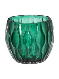 Teelichthalter-Set Aliza, 3-tlg., Glas, Grüntöne, Transparent, Ø 10 x H 9 cm