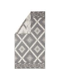 Tappeto reversibile da interno-esterno Malibu, Grigio, crema, Larg. 80 x Lung. 150 cm (taglia xs)