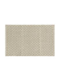 Weicher Badvorleger Panama mit Struktur in Graugrün, 60% Polyester, 40% Baumwolle, Graugrün, 50 x 80 cm