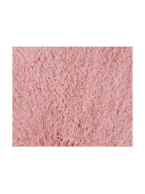 Langharige schapenvacht Ella, gekruld, Bovenzijde: Mongoolse schapenvacht, Onderzijde: leer, Roze, 50 x 80 cm
