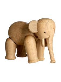 Dekoracja z drewna dębowego Elephant, Drewno dębowe, lakierowane, Drewno dębowe, S 17 x W 13 cm