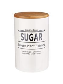 Aufbewahrungsdose Karlton Bros. Sugar, Ø 11 x H 18 cm, Porzellan, Weiß, Schwarz, Braun, Ø 11 x H 18 cm