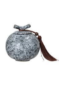 Opbergpot Ebba, Pot: keramiek, Zwart, grijs, Ø 11 x H 13 cm