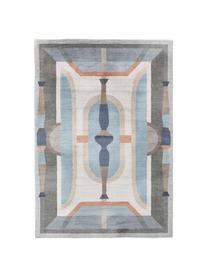 Tappeto fantasia tonalità blu Mara, 100% poliestere, Blu, multicolore, Larg. 160 x Lung. 230 cm (taglia M)