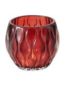 Photophore en verre Aliza, 3élém., Rouge, rose