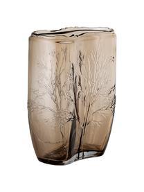Glas-Vase Tree, Glas, Braun, transparent, Ø 10 x H 26 cm