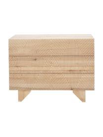 Schubladenkommode Louis aus massivem Eschenholz, Eschenholz, 100 x 75 cm