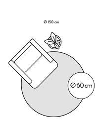 Tappeto rotondo lucido a pelo lungo grigio chiaro Jimmy, Retro: 100% cotone, Grigio chiaro, Ø 200 cm (taglia L)