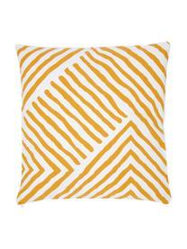 Housse de coussin 40x40 jaune Mia, Jaune-orange, blanc