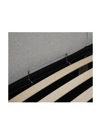 Łóżko tapicerowane ze schowkiem Dream, Korpus: lite drewno sosnowe i pły, Tapicerka: poliester (materiał tekst, Szary, S 180 x D 200 cm