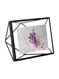 Bilderrahmen Prisma, Rahmen: Stahl, Front: Glas, Schwarz, 10 x 15 cm