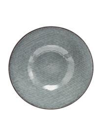 Ręcznie wykonana miska z kamionki Nordic Sea, 4 szt., Kamionka, Odcienie szarego, odcienie niebieskiego, Ø 17 x W 6 cm