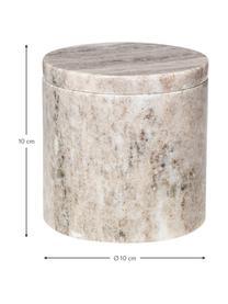 Marmor Aufbewahrungsdose Osvald, Marmor, Hellbraun, Ø 10 x H 10 cm