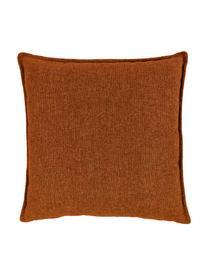Sofa-Kissen Lennon in Terrakotta, Bezug: 100% Polyester, Webstoff Terrakotta, 60 x 60 cm