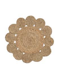 Ronde placemat Sevilla, 100% jute, Beige, Ø 38 cm