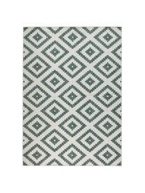 Dubbelzijdig in- en outdoor vloerkleed Malta in groen/crèmekleurig, Groen, crèmekleurig, B 80 x L 150 cm (maat XS)