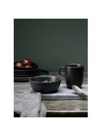 Schalen  Nordic Kitchen, 4 stuks, Keramiek, Mat zwart, 400 ml