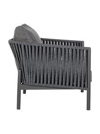 Loungesessel Florencia mit Sitzpolster, Gestell: Aluminium, pulverbeschich, Bezug: Olefin (100% Polypropylen, Anthrazit, B 80 x T 85 cm