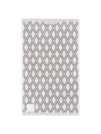 Wende-Handtuch Ava mit grafischem Muster, 100% Baumwolle, mittelschwere Qualität 550 g/m², Taupe, Cremeweiß, Gästehandtuch