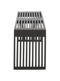 Moderne mahonie bank rib in zwart, Gelakt mahoniehout, Zwart, 104 x 43 cm