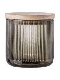 Pojemnik do przechowywania Gianna, Szary, drewno naturalne, Ø 12 x W 12 cm