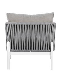 Garten-Loungesessel Florencia, Gestell: Aluminium, pulverbeschich, Sitzfläche: Polyester, Grau, Weiß, B 80 x T 85 cm