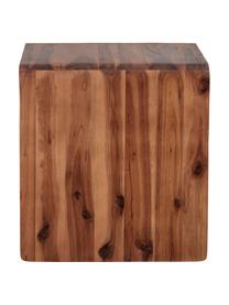 Nachttisch Hassel aus Akazienholz, Akazienholz, Braun, B 38 x T 38 cm