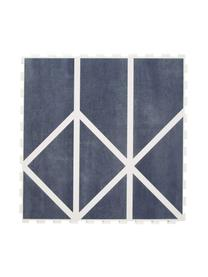 Erweiterbares Spielmatten-Set Nordic, 18-tlg., Schaumstoff (EVAC), schadstofffrei, Blau, Creme, 120 x 180 cm