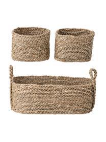 Aufbewahrungskörbe-Set Lincia, 3-tlg., Seegras, Braun, Set mit verschiedenen Größen