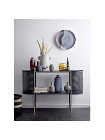 Consolle in metallo nero Midou, Struttura: metallo rivestito Superfi, Nero ottonato, Larg. 120 x Alt. 36 cm