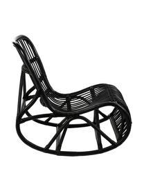 Rotan schommelstoel Kim, Rotan, Zwart, 62 x 90 cm