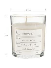 Candela profumata Bliss (cocco), Cera di soia naturale, vetro, Trasparente, Alt. 8 cm
