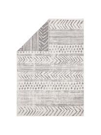 Tapis réversible intérieur-extérieur à imprimés gris/crème Biri, Gris, crème