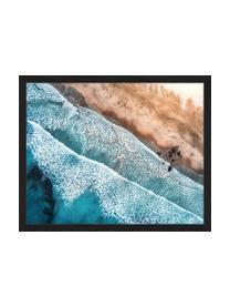 Ingelijste digitale print Aerial View Of Mediterranean Sea, Afbeelding: digitale print op papier,, Lijst: gelakt hout, Multicolour, 53 x 43 cm