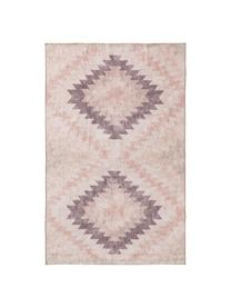 Tapis kilim réversible style ethnique Ana Diamonds, Vieux rose, multicolore