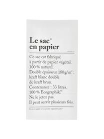 Aufbewahrungstüte Le sac en papier, 33l, Recyceltes Papier, Weiß, 32 x 60 cm