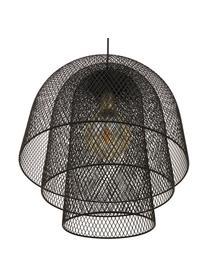 Pendelleuchte Louie in Schwarz, Baldachin, Lampengestell und Lampenschirm: Schwarz, mattKabel: Schwarz, matt, Ø 40 x H 43 cm