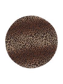 Puf z aksamitu Daisy, Tapicerka: aksamit (poliester) Dzięk, Brązowy, Ø 38 x W 45 cm