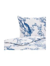 Perkal dekbedovertrek Annabelle, Weeftechniek: perkal, Blauw, wit, 140 x 200 cm