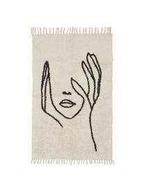 Dywan Face, Beżowy, czarny, S 90 x D 150 cm (Rozmiar XS)