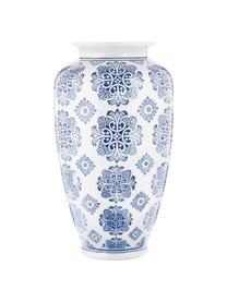 Grote vaas Sara van keramiek, Keramiek, Blauw, wit, Ø 18 x H 36 cm