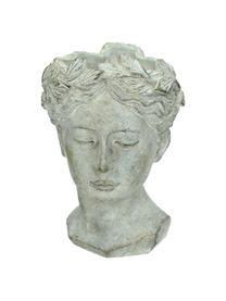 Portavaso in cemento Pass, Cemento, Grigio con finitura antica, Larg. 16 x Alt. 22 cm