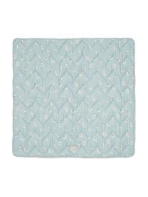 Decke Wildflower aus Bio-Baumwolle, Bezug: 100% Bio-Baumwolle, OCS-z, Hellblau, Cremefarben, Rosa, 100 x 100 cm