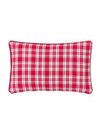Housse de coussin rectangulaire Noël Stirling, Beige, rouge Bordure passepoilée: rouge