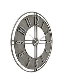 Wanduhr Hudson, Metall, beschichtet, Grau mit Antik-Finish, Ø 60 cm