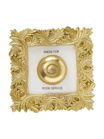 Wandobjekt Room Service, Kunstharz, Goldfarben, Weiß, 20 x 20 cm