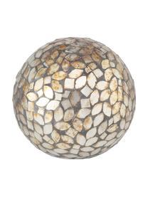 Handgefertigtes Deko-Objekt-Set Kyritz, 2-tlg., Stein, Glas, Braun, Ø 12 x H 12 cm