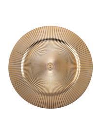 Sottopiatto dorato con scanalature Elegance, Materiale sintetico, Dorato, Ø 31 cm