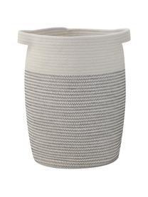 Aufbewahrungskörbe-Set Heba, 2-tlg., Baumwolle, Grau, Weiß, Set mit verschiedenen Größen